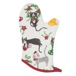 Now Designs Oven Mitt - Meowy Christmas   064180295878
