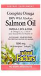 Natural Factors 100% Wild Alaskan Salmon Oil 1300mg Complete Omega 90 Softgels | 068958022666