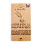 Galerie au Chocolat Almond & Sea Salt Milk Chocolate Bar