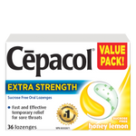 Cepacol Extra Strength Sucrose Free Honey Lemon Lozenges | 0363824903729