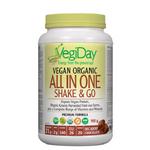VegiDay Vegan Organic All in One Shake & Go - Decadent Chocolate 900g | 628235330367