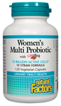Natural Factors Premium Formula Women's Multi Probiotic with Cranberry Extract 12 Billion Live Probiotic Cultures 120 Vegetarian Capsules | 068958018508