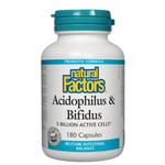 Natural Factors Acidophilus and Bifidus 5 Billion Active Cells Capsules | 068958018010