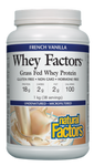 Natural Factors Whey Factors 100% Natural Whey Protein French Vanilla 1 kg | 068958029269