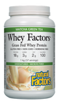 Natural Factors Whey Factors Grass Fed Whey Protein Matcha Green Tea 1 kg | 068958029252