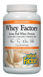 Natural Factors Whey Factors Grass Fed Whey Protein Unflavored 1 kg | 068958029290