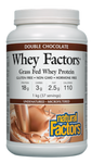 Natural Factors Whey Factors Grass Fed Whey Protein Double Chocolate 1 kg | 068958029276