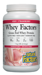 Natural Factors Whey Factors Grass Fed Whey Protein Very Strawberry 1 kg | 068958029283