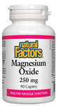 Natural Factors Magnesium Oxide 250mg cplts | 068958016542