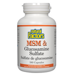 Natural Factors MSM & Glucosamine Sulfate | 068958026992