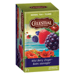 Celestial Seasonings Herbal Tea Wild Berry Zinger | 070734053351