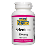 Natural Factors Selenium 200mcg 180 Tablets | 068958016726