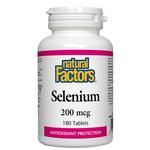 Natural Factors Selenium 200mcg 180 Tablets | 068958016726