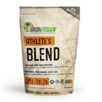 Iron Vegan Athlete's Blend Protein Powder 1kg - Natural Vanilla | 837229007158