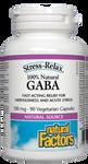 Natural Factors 100% Natural GABA 100mg Stress-RelaxVegetarian Capsules   068958028361