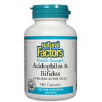Natural Factors Acidophilus and Bifidus Double Strength 10 Billion Active Cells Capsules | 068958018065