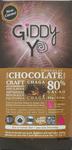 Giddy YoYo Chaga Certified Organic 80% Dark Chocolate Bar 62g | 838206000100