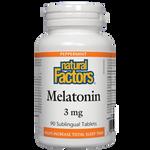 Natural Factors Melatonin 3mg Peppermint | 068958027159