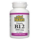 Natural Factors Vitamin B12 1000mcg | 068958012452