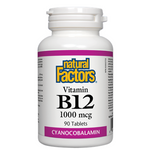 Natural Factors Vitamin B12 1000mcg | 068958012469