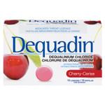 Dequadin Medicated Throat Cherry Lozenges   0664985010074