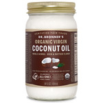 Dr. Bronner's Whole Kernel Organic Virgin Coconut Oil 414 ml | 018787505014