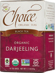 Choice Organic Teas Darjeeling Black Tea 16 Tea Bags | 047445919122