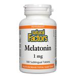 Natural Factors Melatonin 1mg Peppermint Sublingual Tablets | 068958027142