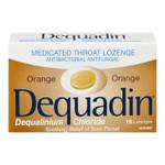 Dequadin Medicated Throat Orange Lozenges   0664985010067