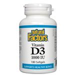 Natural Factors Vitamin D3 1000 IU Softgels | 068958010540