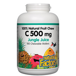 Natural Factors C 500mg 100% Natural Fruit Chew Jungle Juice Chews | 068958013299