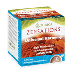 Purica Zensations Universal Harmony Eight Mushrooms and Ashwagandha Cacao Drink 12 Packets |