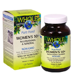 Natural Factors Whole Earth and Sea Women's 50+ Multivitamin and Mineral 120 Tablets | 068958355191