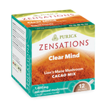 Purica Zensations Clear Mind Lion's Mane Mushroom Cacao Drink 12 Packets |