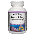 Natural Factors Stress-Relax Tranquil Sleep 60 Chewable Tablets - Tropical Fruit Flavour  | 068958028316