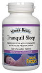 Natural Factors Stress-Relax Tranquil Sleep 120 Chewable Tablets - Tropical Fruit Flavour  | 068958028439