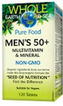 Natural Factors Whole Earth and Sea Men's 50+ Multivitamin and Mineral 120 Tablets | 068958355214