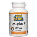 Natural Factors Complete B 100mg Time Release Tablets | 068958011417