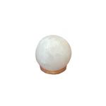 Lumiere de Sel White Himalayan Salt USB Computer Lamp and Night Light Sphere Shape | 875405008360