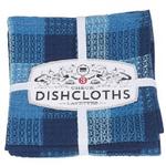 Now Designs Check Dishcloths Set of 3 - Indigo   064180231838