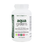 Prairie Naturals Aqua Greens Spirulina & Chlorella Capsules 360 Veg Cap | 067953004929
