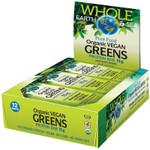 Natural Factors Whole Earth and Sea Organic Vegan Greens Protein Bar 12 x 15g  | 068958355092
