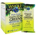 Natural Factors Whole Earth and Sea Organic Vegan Greens Protein Bar 6 x15g | 068958355061