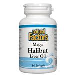 Natural Factors Mega Halibut Liver Oil Softgels | 068958010113