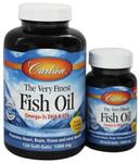 Carlson Norwegian Very Finest Fish Oil 1000mg Soft Gels 120+30 Soft Gels Lemon | 088395016349