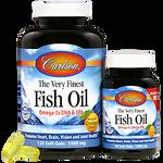 Carlson Norwegian Very Finest Fish Oil 1000mg Soft Gels 120+30 Soft Gels - Orange | 088395016448