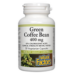 Natural Factors Green Coffee Bean 400mg Vegetarian Capsules | 068958041148