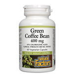 Natural Factors Green Coffee Bean 400mg Vegetarian Capsules | 068958041155