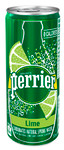 Perrier Carbonated Natural Spring Water Lime 250 ml  | 074780911566