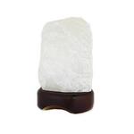 Ecoideas Gemstone Lamps Clear Quartz Table Lamp   626570611202